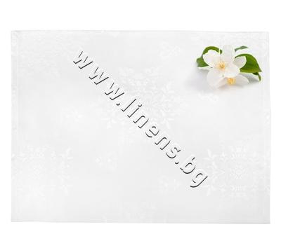 80201001858 Подложка за хранене Dilios Жакард Бяло