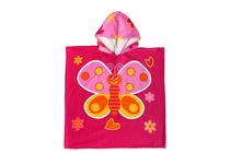 Детски хавлиени изделия » Детско плажно пончо Dilios Пеперуда