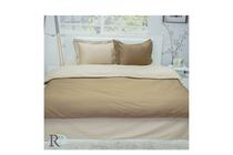 Спално бельо комплекти » Спален комплект Roxyma Двуцветен Светло Кафяво - Бежово