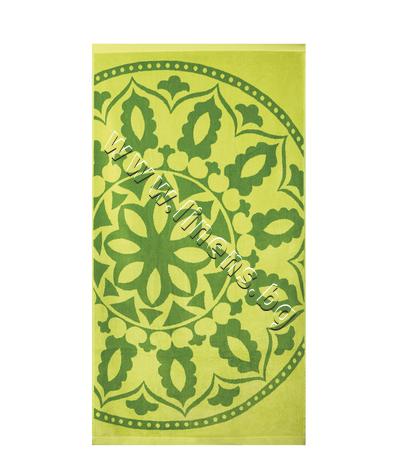 20854132574 Плажна кърпа Dilios Медальон Зелен