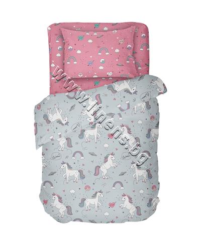 4000017376 Детски спален комплект Dilios Еднорог