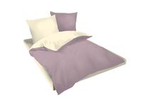 Спално бельо комплекти » Спален комплект Dilios Двулицев Екрю - Пепел от рози