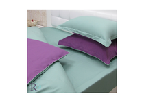 Спално бельо комплекти » Спален комплект Roxyma Двуцветен Тъмно Лила - Зелено