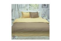 Спално бельо комплекти » Спален комплект Roxyma Двуцветен Светло Кафяво - Охра