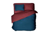 Спално бельо комплекти » Спален комплект Dilios Двулицев Бордо - Синьо