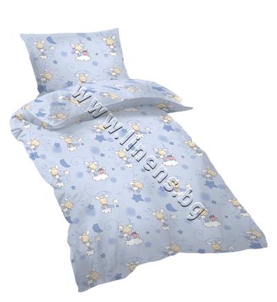 15708983000 Бебешки и детски спален комплект Dilios Овце Сини
