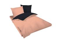 Спално бельо комплекти » Спален комплект Dilios Двулицев Праскова - Черно