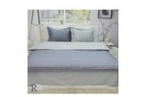 Спално бельо комплекти » Спален комплект Roxyma Двуцветен Тъмно Сиво - Светло Сиво